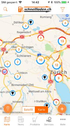 Bild von e-Mobility App schnellladen mobile
