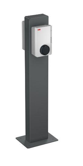 Bild von ABB Standfuss Terra AC Metallstele für 1 oder 2 Ladestationen
