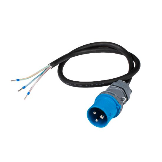 Bild von Anschlusskabel an CEE 16-3 (16A/230V, blau) 1m