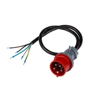 Bild von Anschlusskabel an CEE 16-5 (16A/400V, rot) 1m