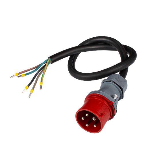 Bild von Anschlusskabel an CEE 32-5 (32A/400V, rot) 1m