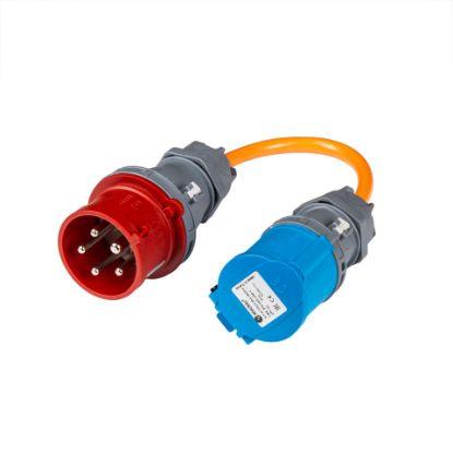 Bild von Adapter CEE16-5 Stecker auf CEE16-3 Kupplung