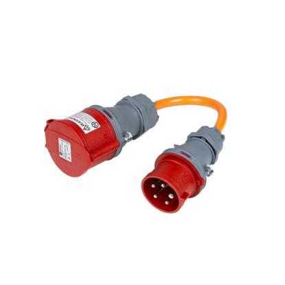 Bild von Adapter CEE16-5 Stecker auf CEE32-5 Kupplung (16A abgesichert)