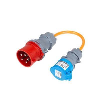 Bild von Adapter CEE32-5 Stecker auf CEE16-3 Kupplung (16A abgesichert)