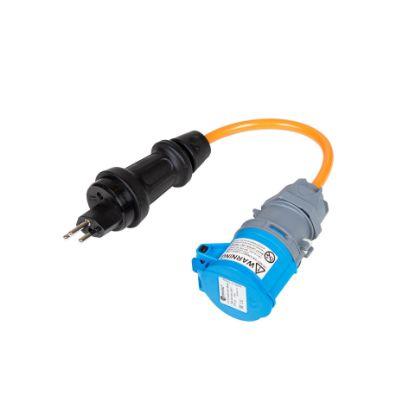 Bild von Adapter T13 Stecker TH55 auf CEE16-3 Kupplung (10A abgesichert)